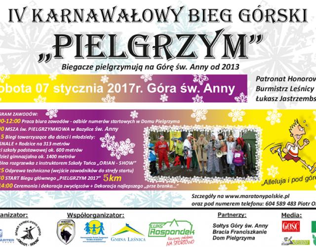 Gmina Leśnica zaprasza na górski bieg karnawałowy